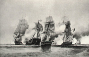1280px-Cybèle_and_Prudente_vs_English_ship_and_frigate_22_dec_1794-Durand_Brager_img_3104.jpg