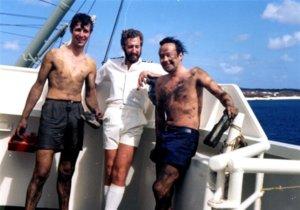 Chief Off Josh Garner & Author after measuring Double Bottom tanks 1979 (Medium).jpg