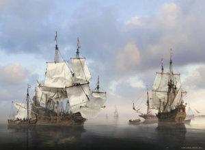 17. Ships in a calm kopie.jpg
