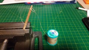 1148 Rope Hank and Line for Line Belayed to Rail,  Step 1 - Overhand Knot.jpg