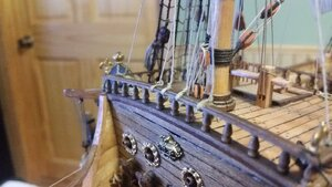 1186 Topsail Clew Lines and Sheets Belayed to Center of Forecastle Rail.jpg