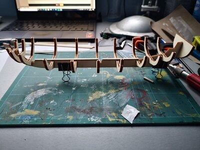 Floor 1st plank glued.jpg