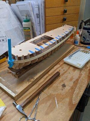 6 - Starting Hull planking.jpg