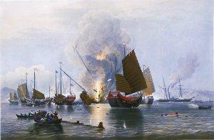 Destroying_Chinese_war_junks,_by_E._Duncan_(1843).jpg