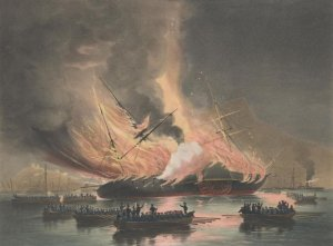 The_Burning_of_the_USS_Missouri_in_Gibraltar_(cropped).jpg