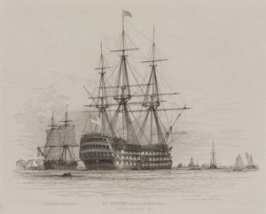 HMS_Victory_in_Portsmouth_Harbour_with_a_coal_ship_alongside,_1828.jpg