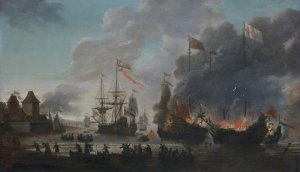 The_Dutch_burn_English_ships_during_the_expedition_to_Chatham_(Raid_on_Medway,_1667)(Jan_van_L...jpg