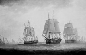 1280px-George_III_in_HMS_Southampton_reviewing_the_fleet_off_Plymouth,_18_August_1789_RMG_B6883.jpg
