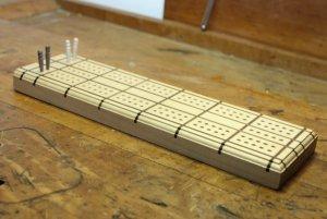 Cribbage Board & Pegs_Side View.JPG