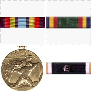 Medals and Ribbon Earned while in the U. S. Navy ('79 - '84)