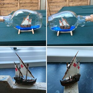 Bottled ship builds