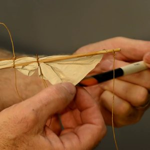 Making Sails for Ship Models from Silkspan, Part 3