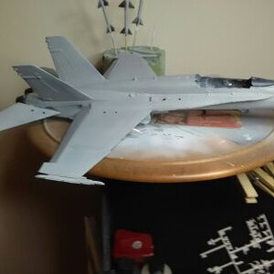 F/A-18 Fire on the Flight Deck in progress in the spray booth