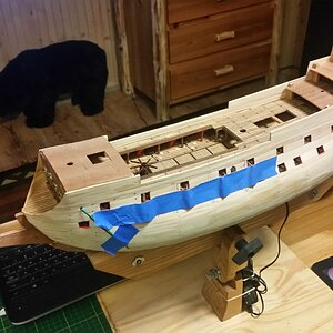 161 Complete Hull Planks & Test Fit Upper Decks.jpg